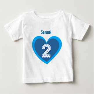 2nd Birthday 2 Year Old Hearts Number Heart V105 T-shirts