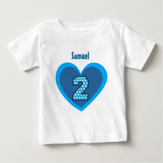 2nd Birthday 2 Year Old Polka Number Heart V104 Baby T-Shirt