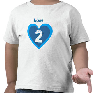 2nd Birthday 2 Year Old Stars Number Heart V106 Shirt
