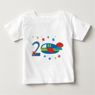 2nd Birthday Airplane Baby T-Shirt
