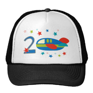 2nd Birthday Airplane Trucker Hats