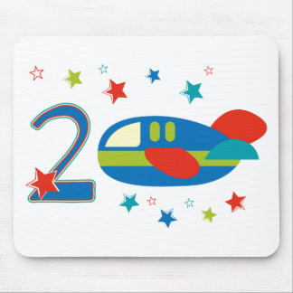 2nd Birthday Airplane Mouse Pad