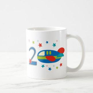 2nd Birthday Airplane Coffee Mugs