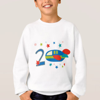 2nd Birthday Airplane Sweatshirt