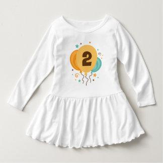 2nd Birthday Balloons 2 Year Old T-shirt Dress