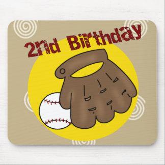 2nd Birthday Baseball Mousepad