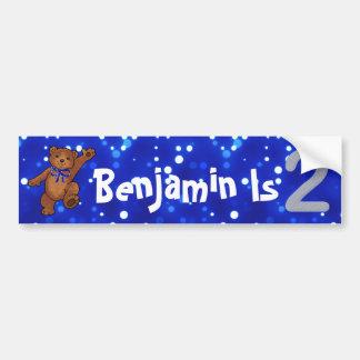2nd Birthday Bear Bumper Sticker