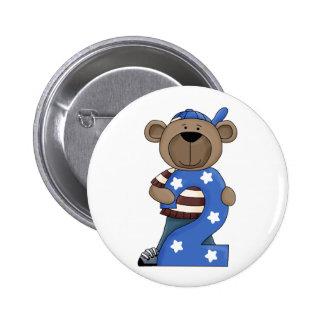 2nd Birthday Bear Fun Pin Button