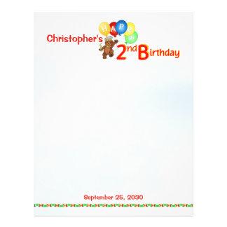 2nd Birthday Bears Scrapbook Paper 1 Flyer Design