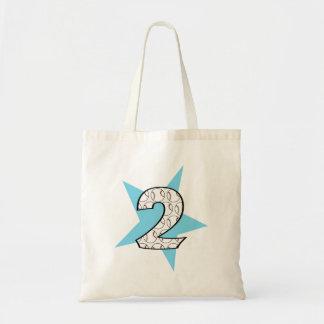 2nd Birthday Blue Baseball Star Bag