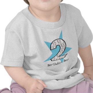 2nd Birthday Blue Baseball Star T-Shirt