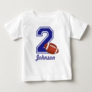 2nd Birthday boy football personalized Baby T-Shirt