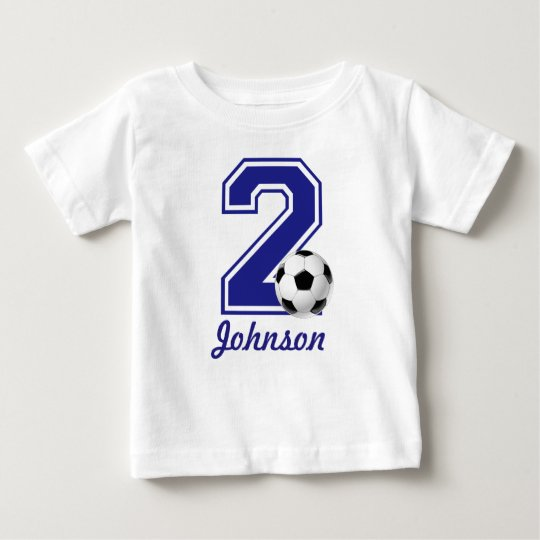 2nd Birthday boy soccer,football personalised Baby T-Shirt