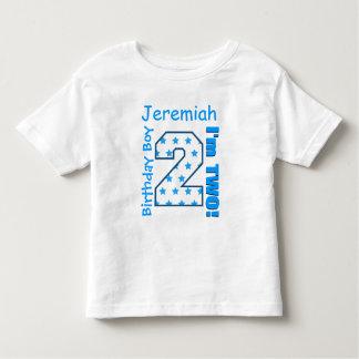 2nd Birthday Boy Stars One Year Custom Name V006Z Toddler T-Shirt