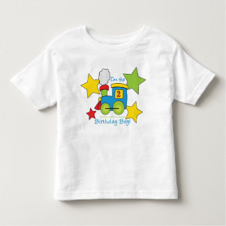 2nd Birthday Boy Train Shirt