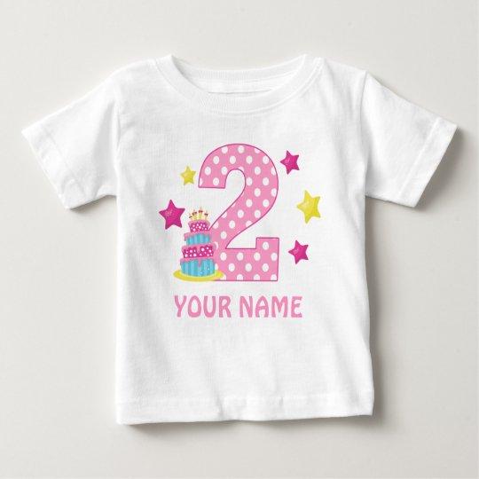 2nd Birthday Cake Girl Personalised T-shirt