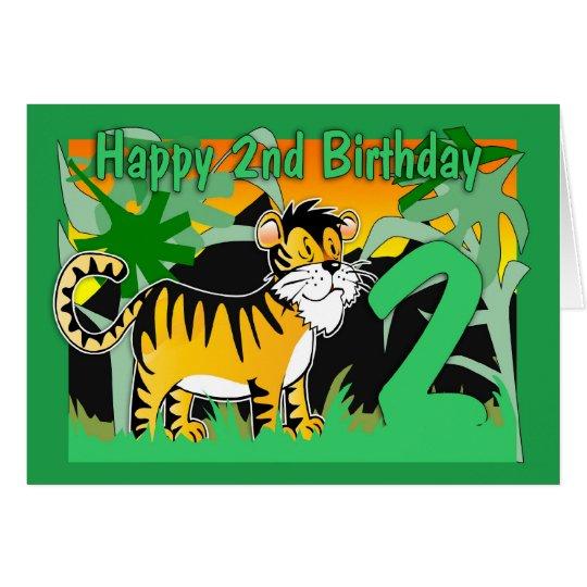 2nd Birthday Card - Tiger