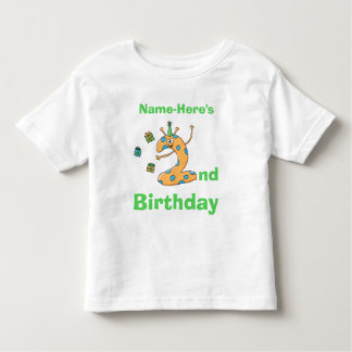2nd birthday cartoon. Custom Name. T Shirts