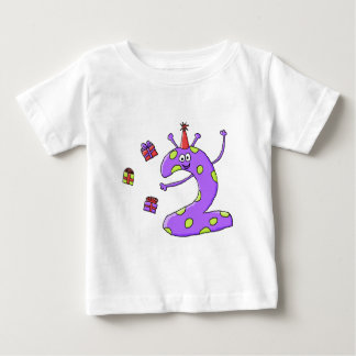 2nd Birthday Cartoon in Purple. Tee Shirt