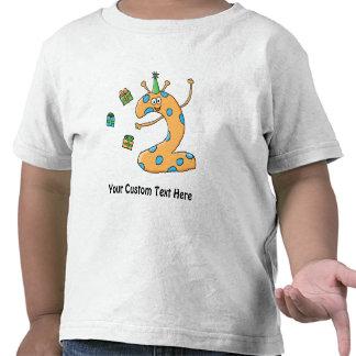2nd Birthday Cartoon - Orange Tshirts
