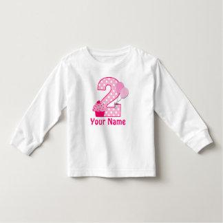 2nd Birthday Cupcake Girls Personalized T-shirt