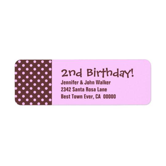 2nd Birthday Cute Polka Dot Pattern