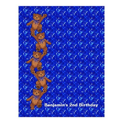 2nd Birthday Dancing Bear Scrapbook Paper 2 Flyer Design