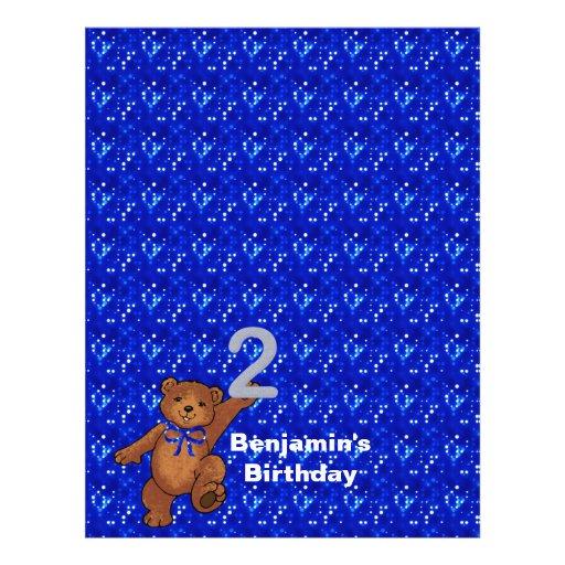 2nd Birthday Dancing Bear Scrapbook Paper 3 Custom Flyer