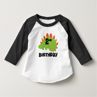 2nd Birthday Dinosaur 2 Year Old Tshirt
