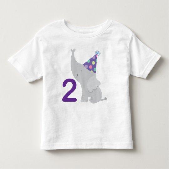 2nd Birthday Elephant Toddler T-Shirt