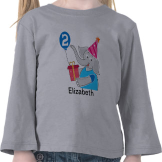 2nd Birthday Elephant T Shirt