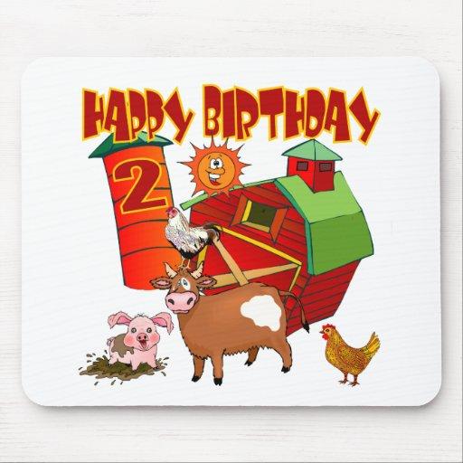 2nd Birthday Farm Birthday Mousepads