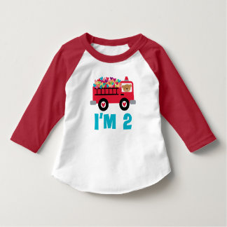 2nd Birthday Firetruck Fireman Toddler T-shirt