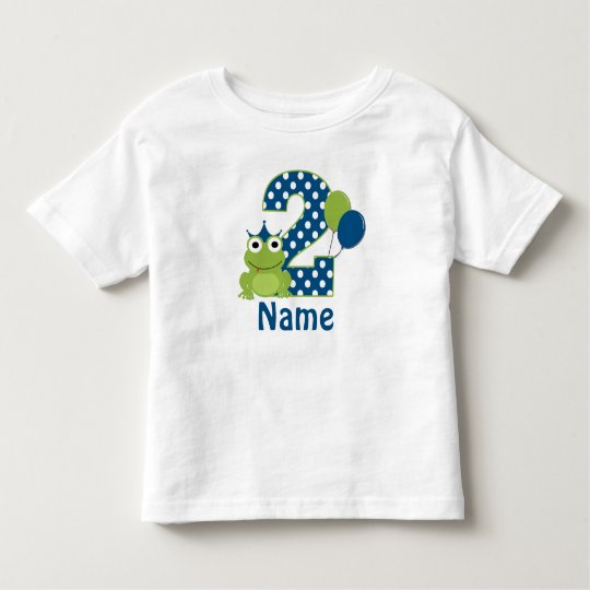 2nd Birthday Frog Personalised Shirt