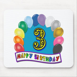 2nd Birthday Gifts with Assorted Balloons Design Mousepads