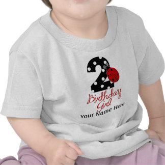 2nd Birthday Girl - Ladybug - 2 Lady Bug Shirt