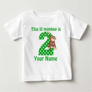 2nd Birthday Hanging Monkey T-shirt