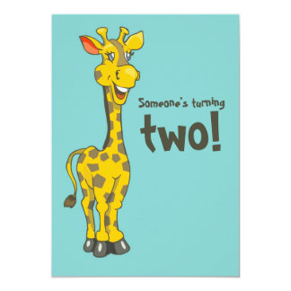 "2nd Birthday Invitation 5"" X 7"" Invitation Card"