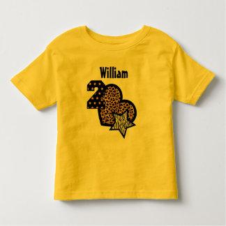 2nd Birthday Leopard Heart Stars 2 Year Old 5 Tshirts