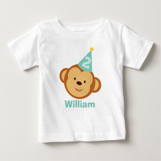2nd Birthday Monkey Boy with Personalised Name Baby