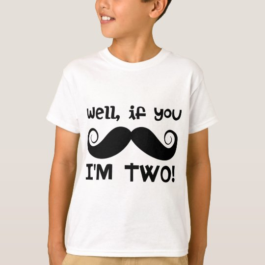 2nd Birthday Moustache T-Shirt