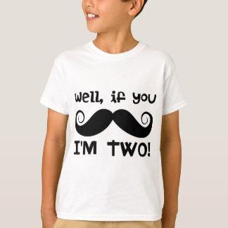 2nd Birthday Mustache T-Shirt