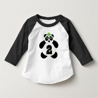 2nd Birthday Panda 2 Year Old Tshirt