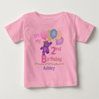 2nd Birthday Party Girl Princess Bear Baby T-Shirt