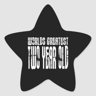 2nd Birthday Party Worlds Greatest Two Year Old Stickers