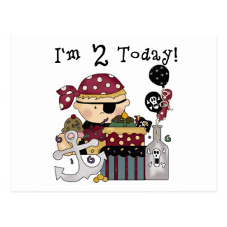 2nd  Birthday Pirate Tshirts and Gifts Postcard