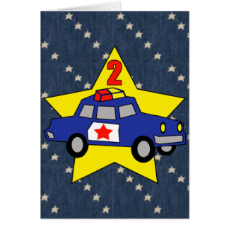 2nd Birthday Police Officer Greeting Card