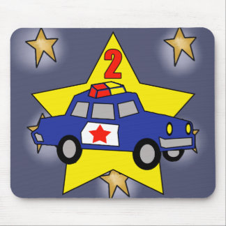 2nd Birthday Police Officer Mouse Pad
