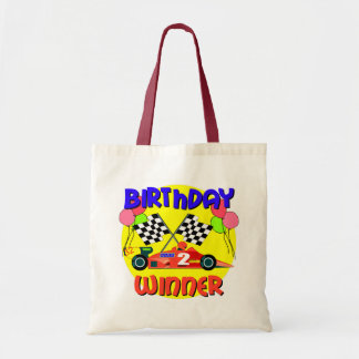 2nd Birthday Race Car Birthday Budget Tote Bag