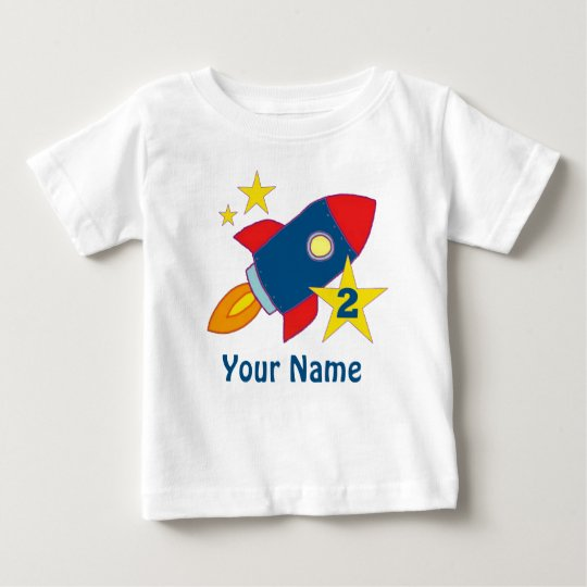 2nd Birthday Rocket Personalised T-shirt
